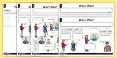 French Naming People Activity Sheet