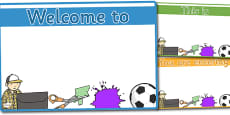 Editable Classroom Welcome Signs (Design 2)