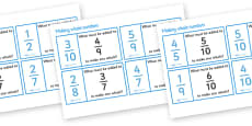 Making Whole Numbers From Fractions Loop Cards