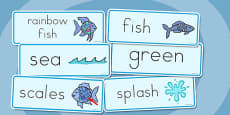 Australia - Word Cards to Support Teaching on The Rainbow Fish