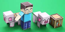 Block Paper Model Adventure Pack