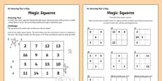 Magic Squares Activity Sheet