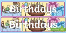 'Birthdays' Display Banner
