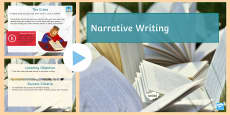 Narrative Writing Cover Lesson PowerPoint