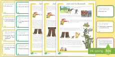 * NEW * Jack and the Beanstalk Differentiated Story and Comprehension Question Cards