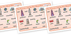 The Princess and the Pea Word Mat (Images)