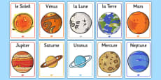 Our Solar System Display Poster French