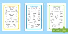 Präpositionen Wortschatz Wort- und Bildkarten