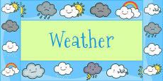 Weather Themed Display Borders
