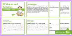 PE Games and Activities Challenge Cards