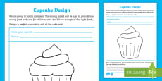 Unicef Day for Change KS1 Design a Cupcake Activity Sheet