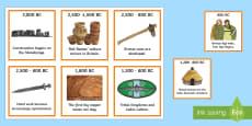 Bronze Age Timeline Ordering Activity