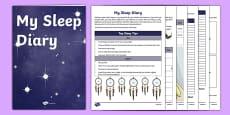 My Sleep Diary Activity Sheet Pack