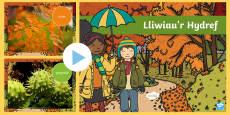 Pwerbwynt Lliwiau'r Hydref