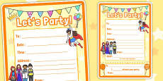 Light Party Party Invite Template