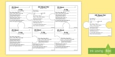 All About Me and My Family Jigsaw Puzzle Activity English/Polish