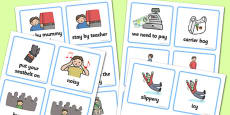 SEN Communication Cards Out and About (Boy)