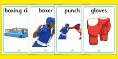 The Olympics Boxing Display Posters