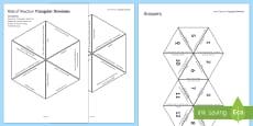 Rate of Reaction Tarsia Triangular Dominoes
