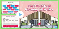 Back To School Morning Activities Middle Primary PowerPoint