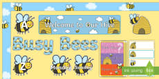 * NEW * Bee Themed Bulletin Board Pack