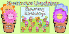 Blooming Birthdays Flower Display Pack Polish Translation