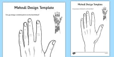 Mehndi Design Template
