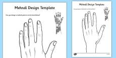 Mehndi Design Template