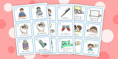 Special Needs Communication Cards Daily Routine Boy - Australia