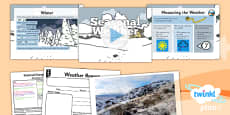 Science: Seasonal Changes (Autumn and Winter): Seasonal Weather Winter Year 1 Lesson Pack 5