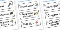 Lemur Themed Editable Square Classroom Area Signs (Colourful)