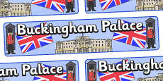Buckingham Palace Display Banner