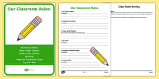 Class Rules Activity Sheet and Display Pack