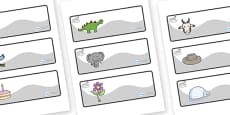 Swan Themed Editable Drawer-Peg-Name Labels