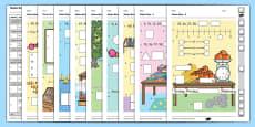 Year 1 Maths Quiz Challenge 2 Activity Sheet Pack