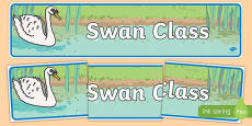 Swan Themed Classroom Display Banner