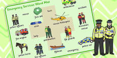 Emergency Services Word Mat