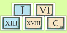 Roman Numeral Visual Aids