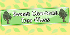 Sweet Chestnut Tree Themed Classroom Display Banner
