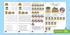 Counting in 2s, 5s, and 10s Multiplication Activity Sheet English/Mandarin Chinese