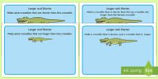 Crocodile Longer and Shorter Playdough Mats