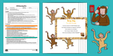 * NEW * EYFS Five Little Monkeys Subtraction Busy Bag Plan and Resource Pack