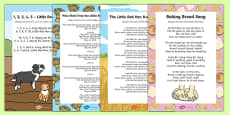 The Little Red Hen Songs and Rhymes Resource Pack