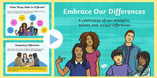 Embrace Our Differences Powerpoint