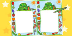 Themed Editable Notes to Support Teaching on The Very Hungry Caterpillar