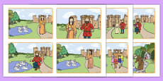 The Children of Lir Story Sequencing Cards