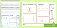 Number Mat Activity Pack (Numbers 0-10)