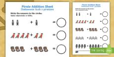 Pirate Addition Sheet English/Polish