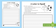 * NEW * Year 3 A Letter to Myself Activity Sheet