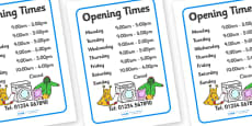 Laundrette Role Play Opening Times